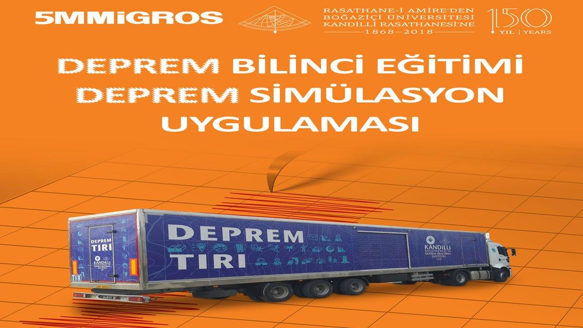 Migros ile Kandilli Rasathanesi'nden İzmir'de Deprem Simülasyon Eğitimi
