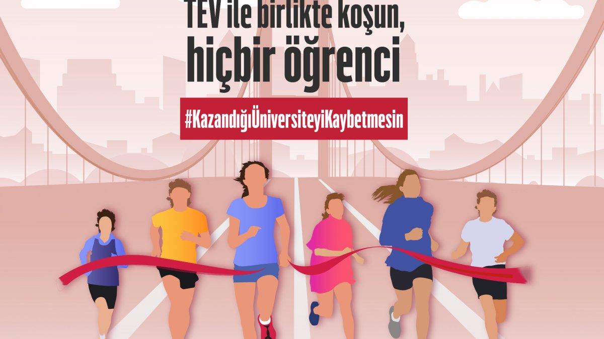 """TEV, Gençler """"Kazandığı Üniversiteyi Kaybetmesin"""" Diye İstanbul Maratonu'nda Koşacak!"""