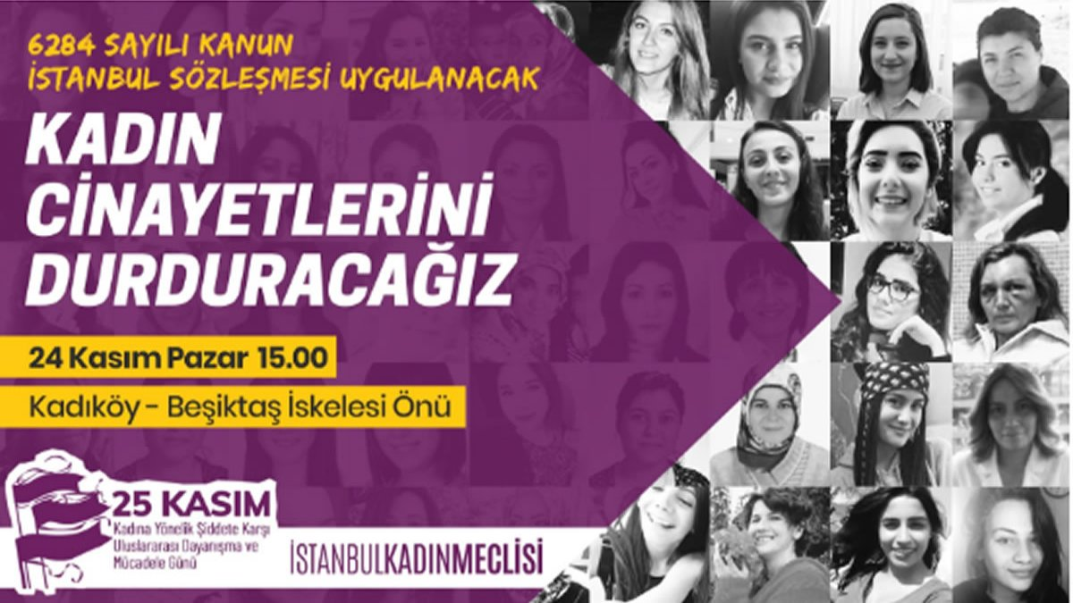 """Kadınlar """"Asla Yalnız Yürümemek İçin"""" 24 Kasım'da Kadıköy'de Buluşuyor"""