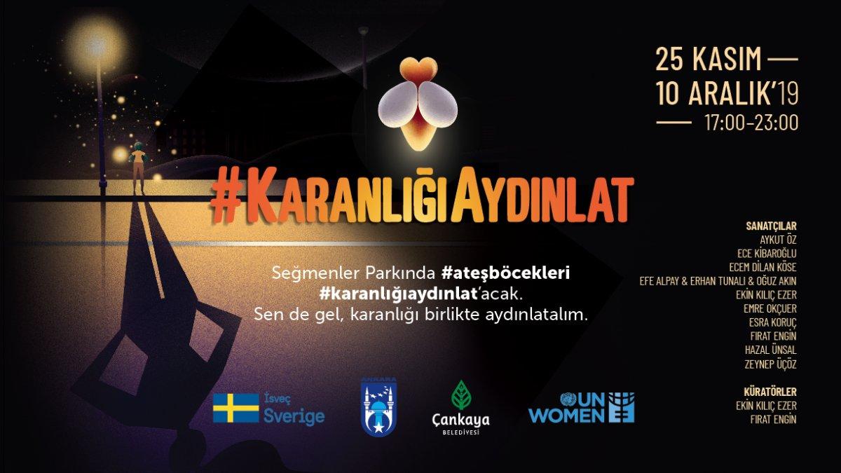 BM Kadın Birimi Kadına Yönelik Şiddete Karşı  'Karanlığı Aydınlat'maya Çağırıyor