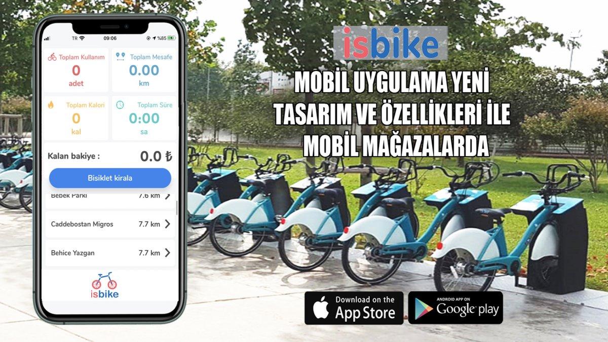 İstanbul'da Akıllı Bisikletler Cebe Girdi