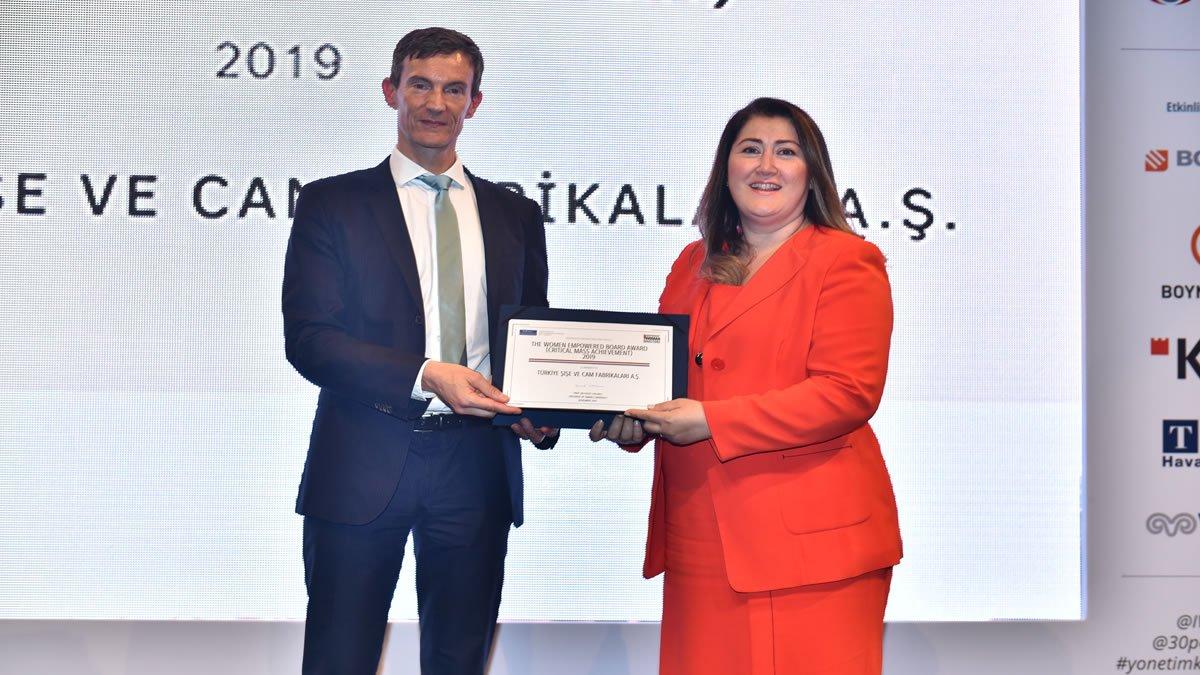 Şişecam'a  'Kadınlarla Güçlendirilmiş Yönetim Kurulu'  Ödülü