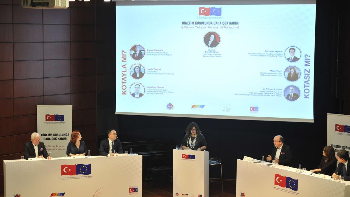 Yönetim Kurulunda Kadın Derneği Borsa İstanbul Evsahipliğinde Kota Konulu Münazara Düzenledi