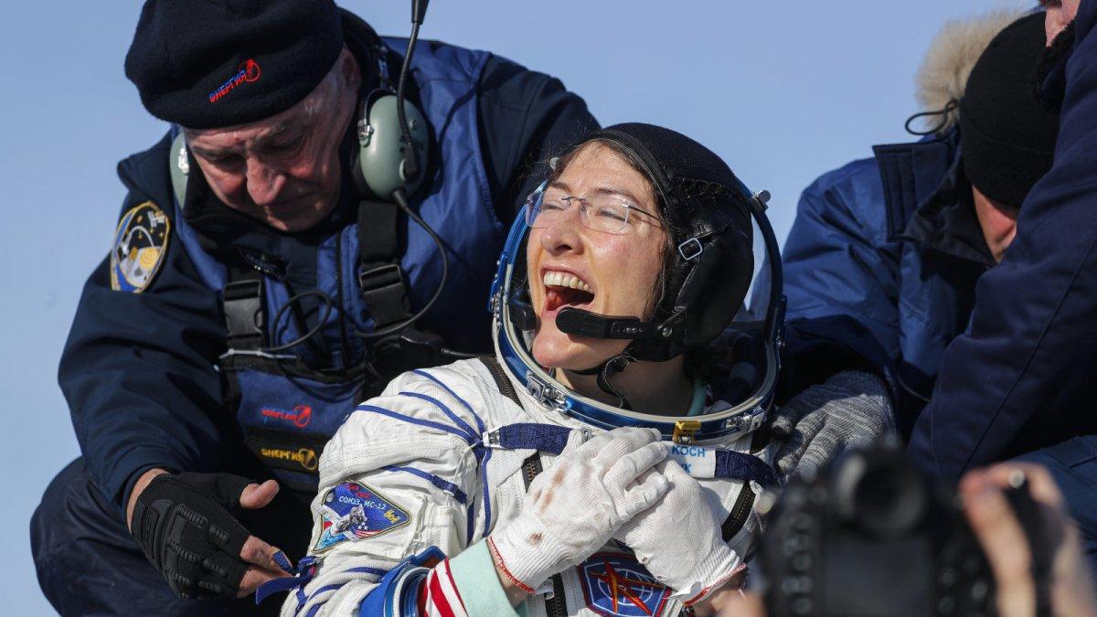 Christina Koch, Uluslararası Uzay İstasyonu'nda 328 gün kalarak rekor kırdı
