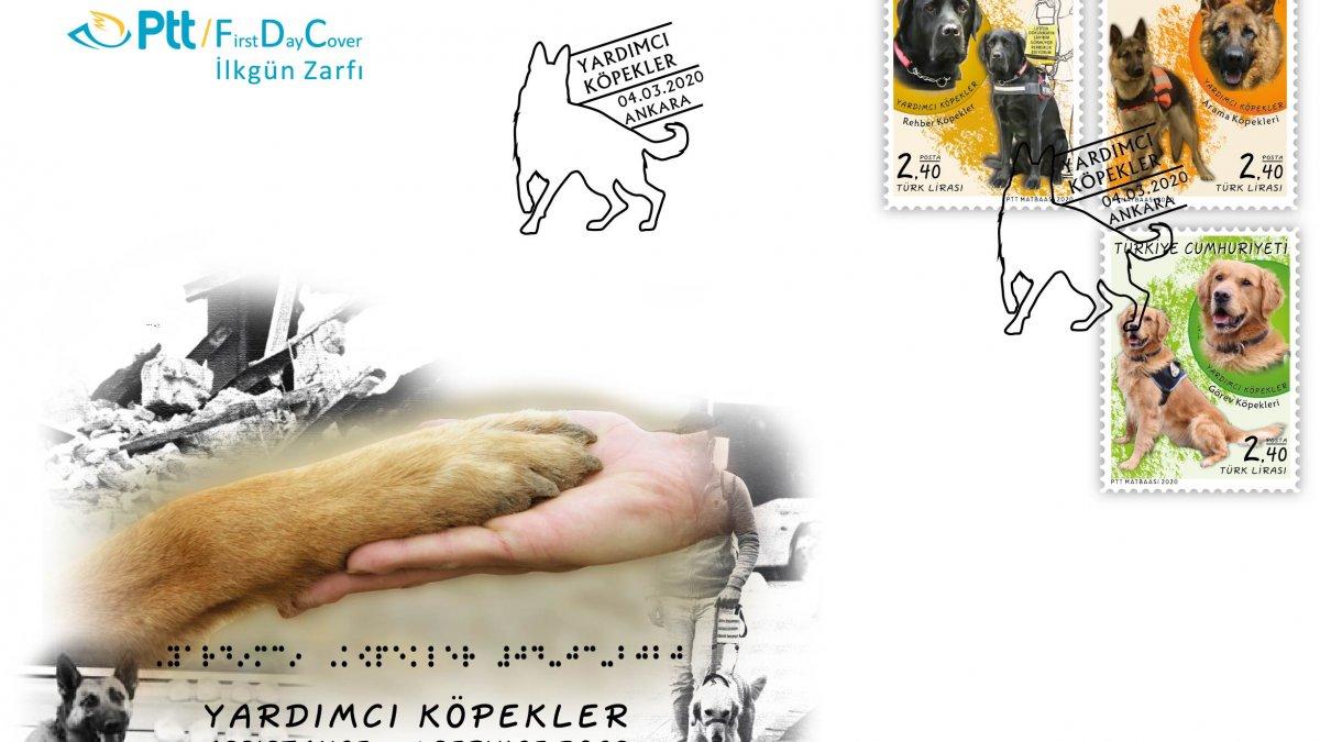 PTT'den ''Yardımcı Köpekler'' konulu anma pulu