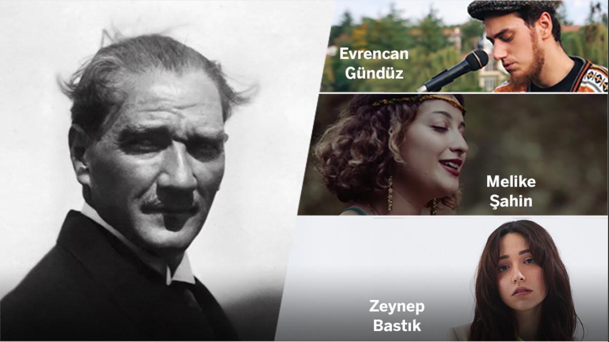 Mustafa Kemal Atatürk, sevdiği şarkılarla anıldı