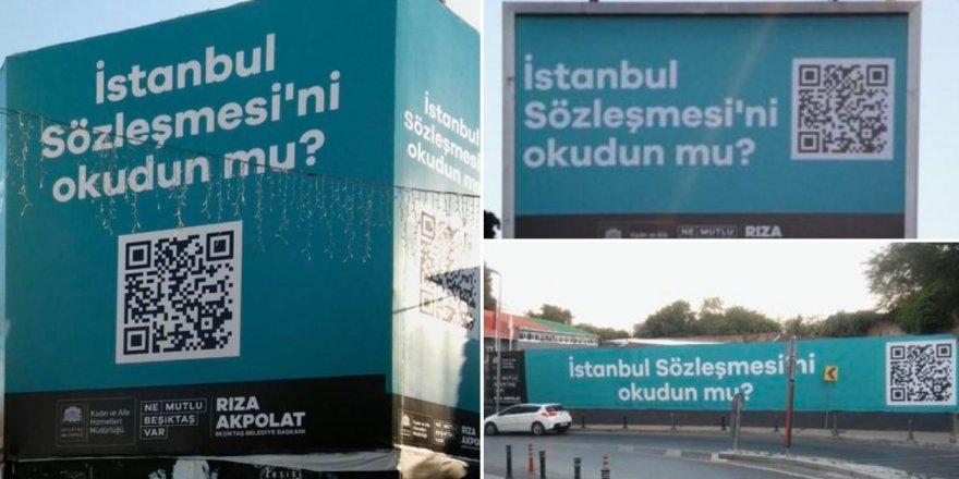 """Beşiktaş Belediyesi'nden QR Kodlu Billboardlar: """"İstanbul Sözleşmesini Okudunuz mu?"""""""