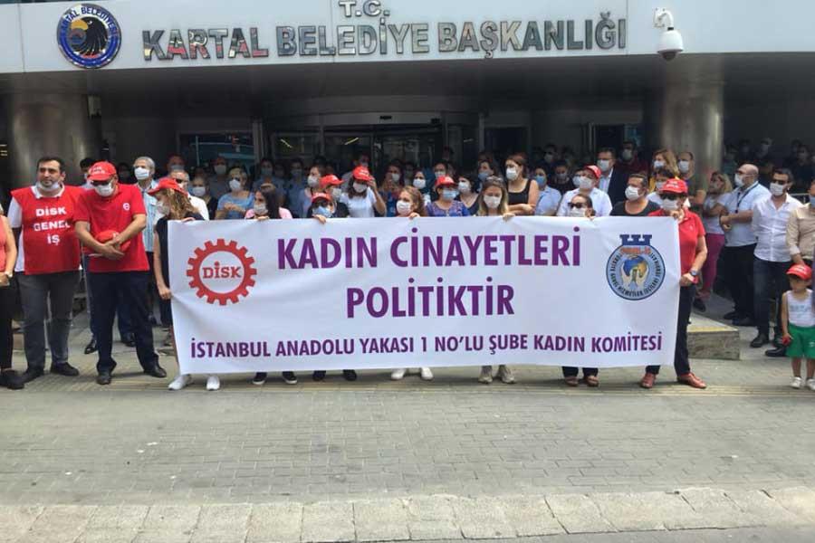 Kartal Belediyesi işçileri: İstanbul Sözleşmesi için mücadeleyi sürdüreceğiz