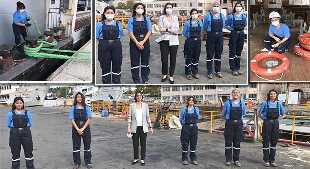 İBB Şehir Hatları'nda ilk: Kadın gemiciler işe başladı