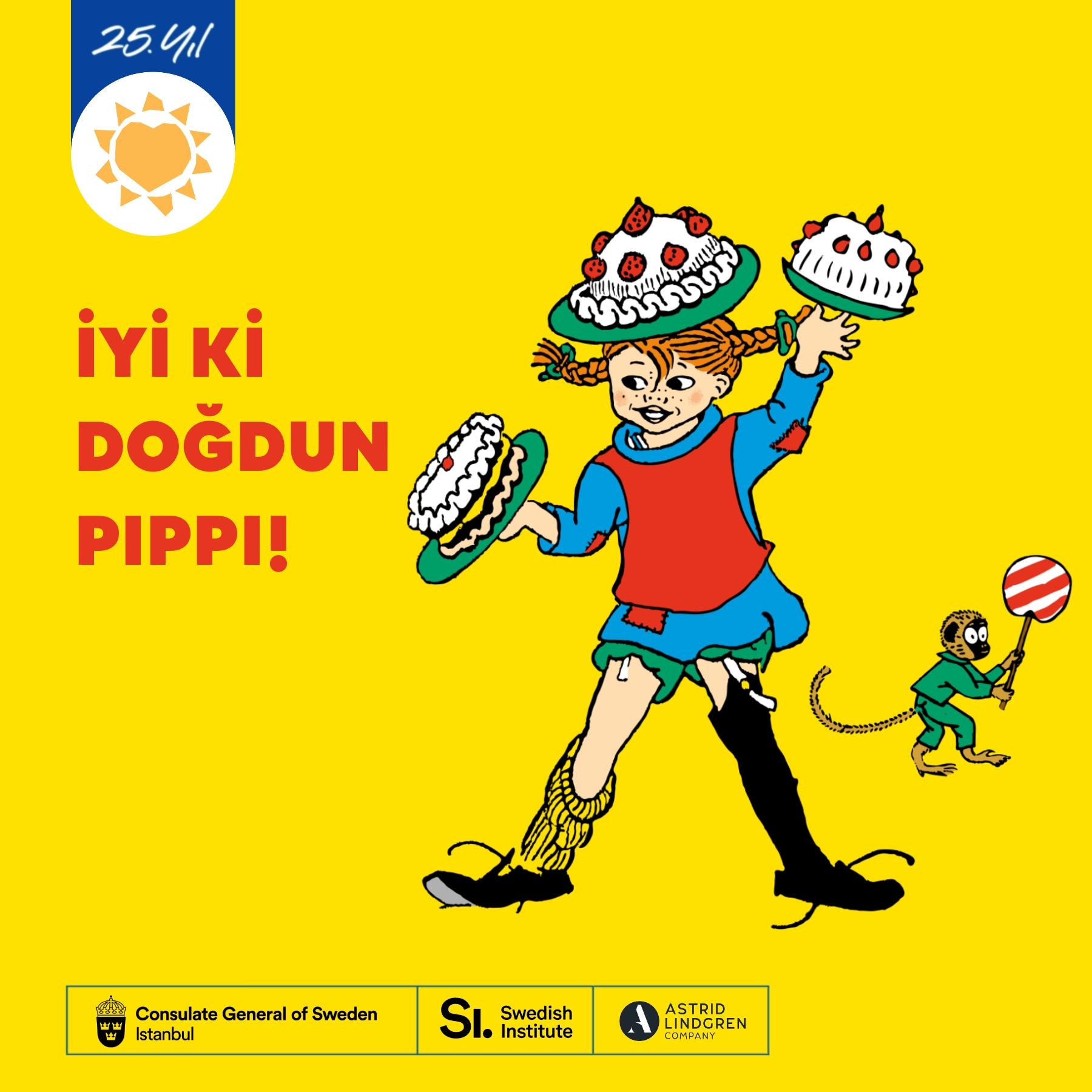 TEGV'den Pippi Uzunçorap'ın 75. doğum gününde çocuklara ilham verecek bir seminer