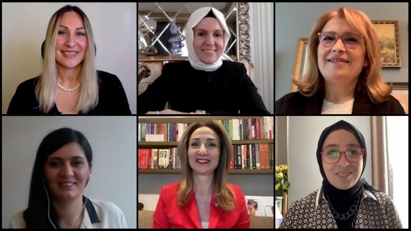 """Tarihi buluşma: Partilerin kadın kolları başkanları """"İstanbul Sözleşmesi"""" için ilk kez bir araya geldi!"""