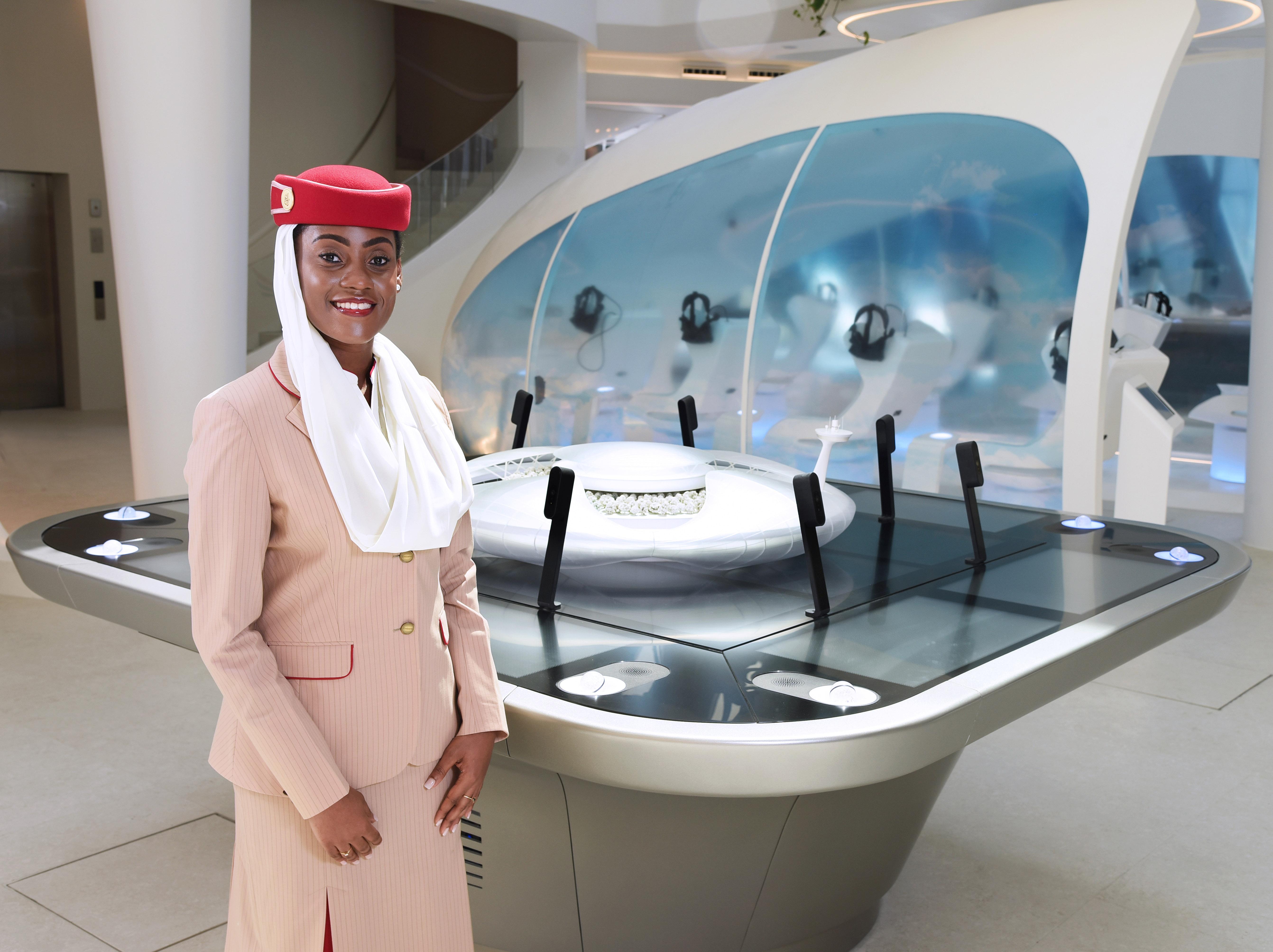 Expo 2020 Dubai'de Emirates Fuar Pavyonu, artık ziyaretçilerini ağırlamaya hazır