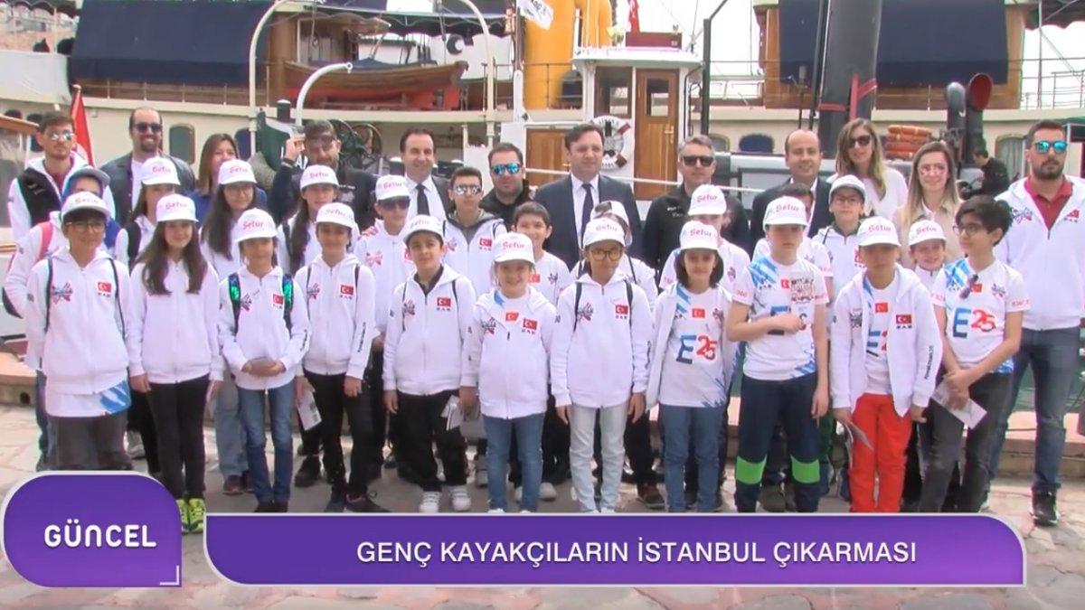 Erzurum'da karlı pistlerden İstanbul'a geldiler